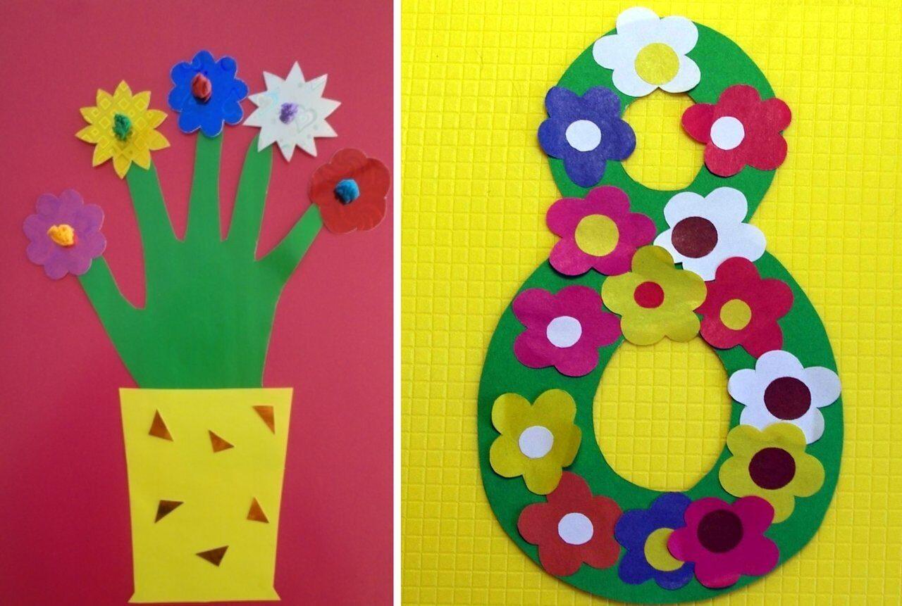 Открытка, открытки к 8 марта дети 3 лет