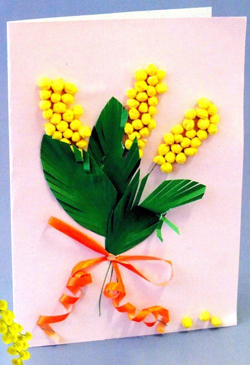 Открытки для мамы на 8 марта своими руками в детском саду